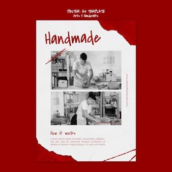 Plantilla de póster de artes y manualidades