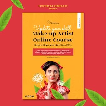Plantilla de póster de artista de maquillaje