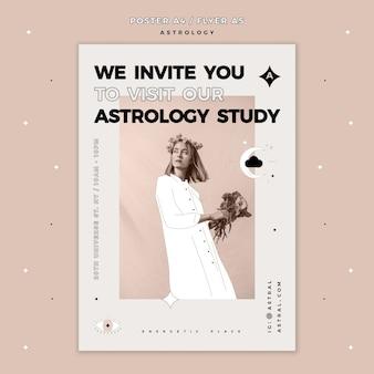 Plantilla de póster para astrología