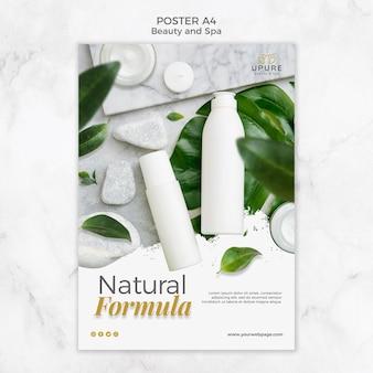 Plantilla de póster de belleza y spa