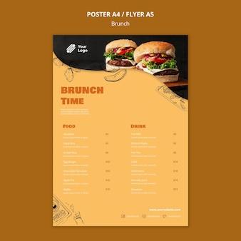 Plantilla de póster para brunch