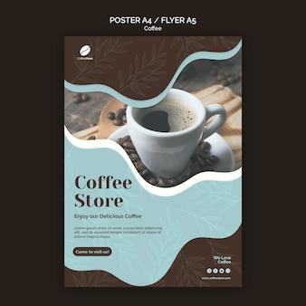 Plantilla de póster de cafetería