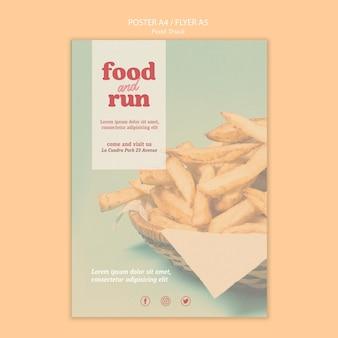 Plantilla de póster de camión de comida
