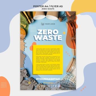 Plantilla de póster cero desperdicio