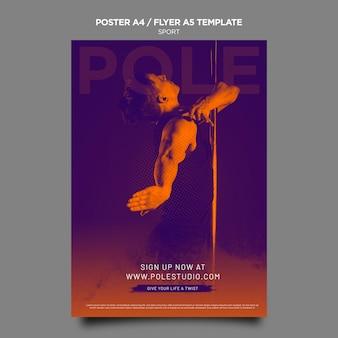 Plantilla de póster de clase de poste