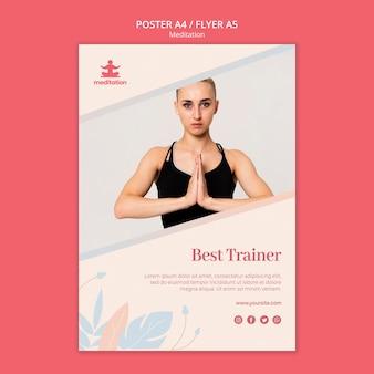 Plantilla de póster de clases de meditación