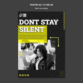 Plantilla de póster para combatir el racismo