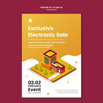 Plantilla de póster de comercio electrónico