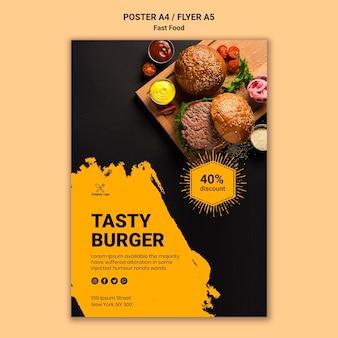 Plantilla de póster de comida rápida
