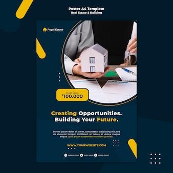 Plantilla de póster de compra de propiedad