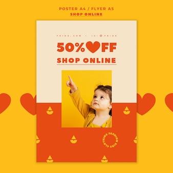 Plantilla de póster de compras en línea