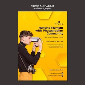 Plantilla de póster de la comunidad de fotógrafos