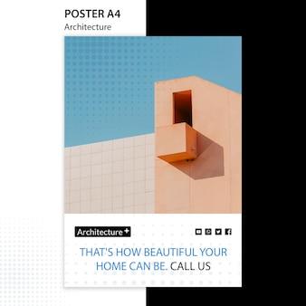 Plantilla de póster de concepto de arquitectura