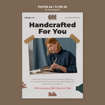 Plantilla de póster de concepto de artesanía