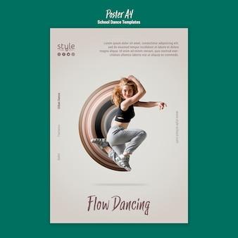 Plantilla de póster de concepto de baile