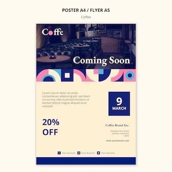 Plantilla de póster de concepto de café