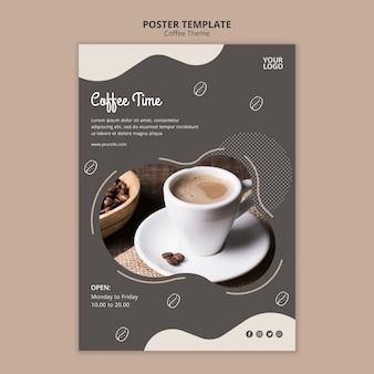 Plantilla de póster de concepto de cafetería