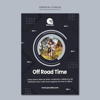 Plantilla de póster de concepto deportivo