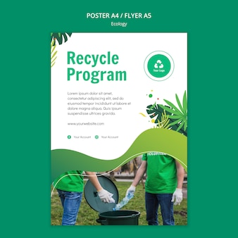 Plantilla de póster de concepto de ecología