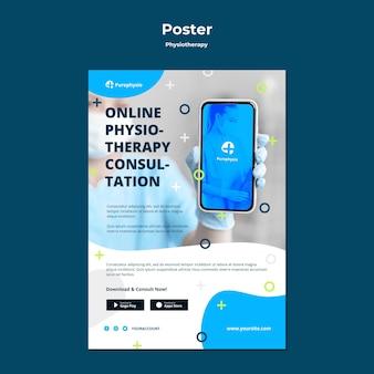 Plantilla de póster de concepto de fisioterapia
