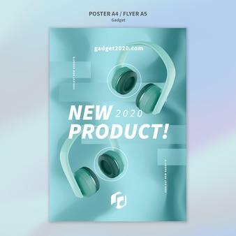 Plantilla de póster de concepto de gadget