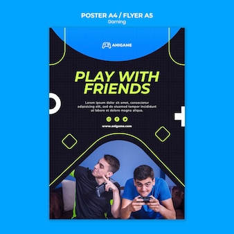 Plantilla de póster de concepto de juego