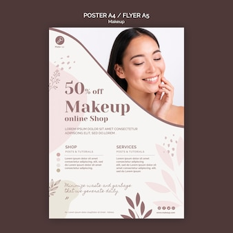 Plantilla de póster de concepto de maquillaje