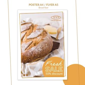Plantilla de póster de concepto de pan