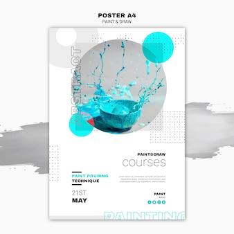 Plantilla de póster de concepto de pintura