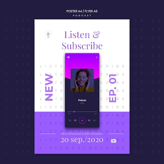 Plantilla de póster de concepto de podcast