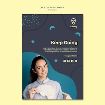 Plantilla de póster de concepto de positivismo