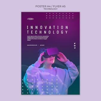Plantilla de póster de concepto de tecnología