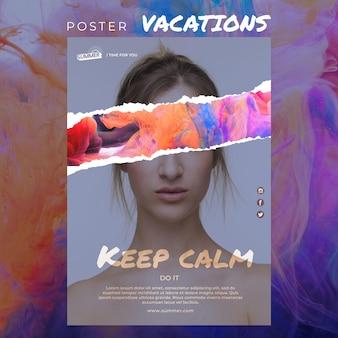 Plantilla de póster de concepto de vacaciones