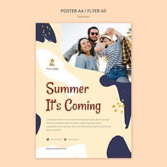 Plantilla de póster de concepto de verano