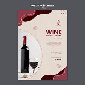 Plantilla de póster de concepto de vino