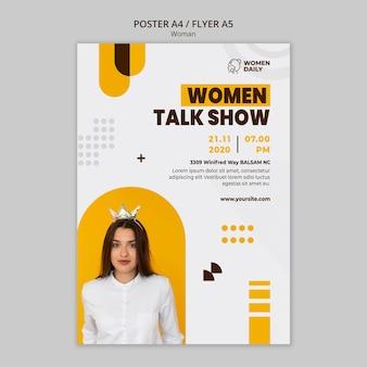Plantilla de póster de conferencia de feminismo