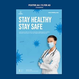 Plantilla de póster de coronavirus