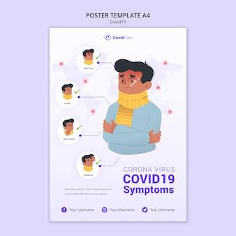 Plantilla de póster con covid19