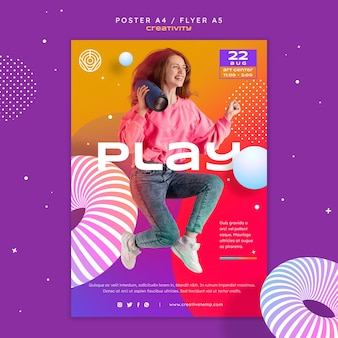 Plantilla de póster de creatividad