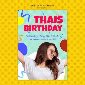 Plantilla de póster de cumpleaños