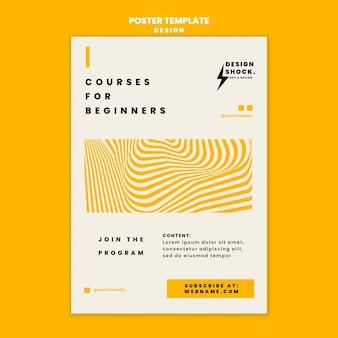 Plantilla de póster para cursos de diseño gráfico.