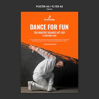Plantilla de póster de dance for fun musicology