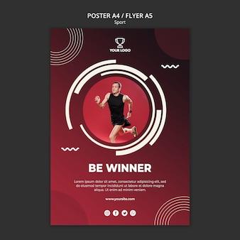 Plantilla de póster para deporte y fitness