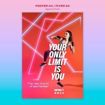 Plantilla de póster para deportes y ejercicio