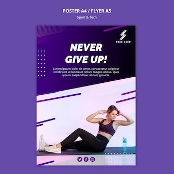 Plantilla de póster deportivo y tecnológico