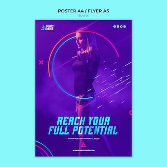 Plantilla de póster deportivo
