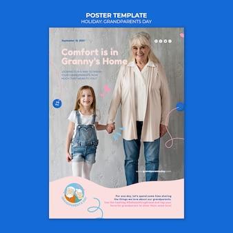Plantilla de póster del día de los abuelos
