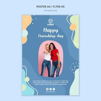 Plantilla de póster del día de la amistad