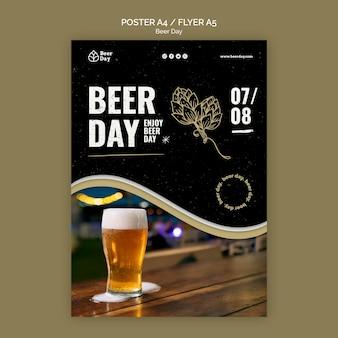 Plantilla de póster del día de la cerveza