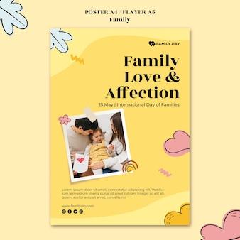 Plantilla de póster del día de la familia